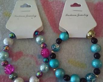 Blue or Pink Shimmer Bracelet