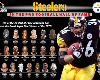 Steelers in the Hall of Fame Featuring Jerome Bettis Commemorative Poster