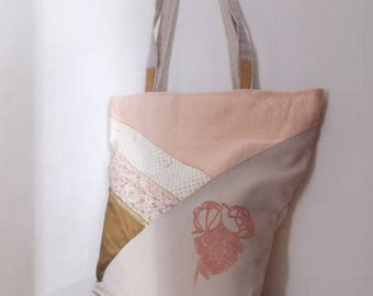Powder Pink Tote with textile printing