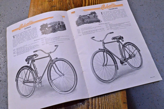 Vintage Columbia Bicycles Catalog, 1920s Bicycle Advertising, Early Bicycle Sales Catalog