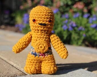 Star Wars C-3PO Amigurumi, hand crocheted