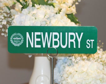 Customizable Boston Street Sign Table Numbers