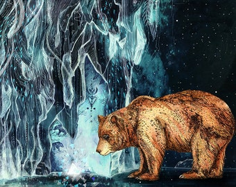 Bear Cave // Signed A4 print
