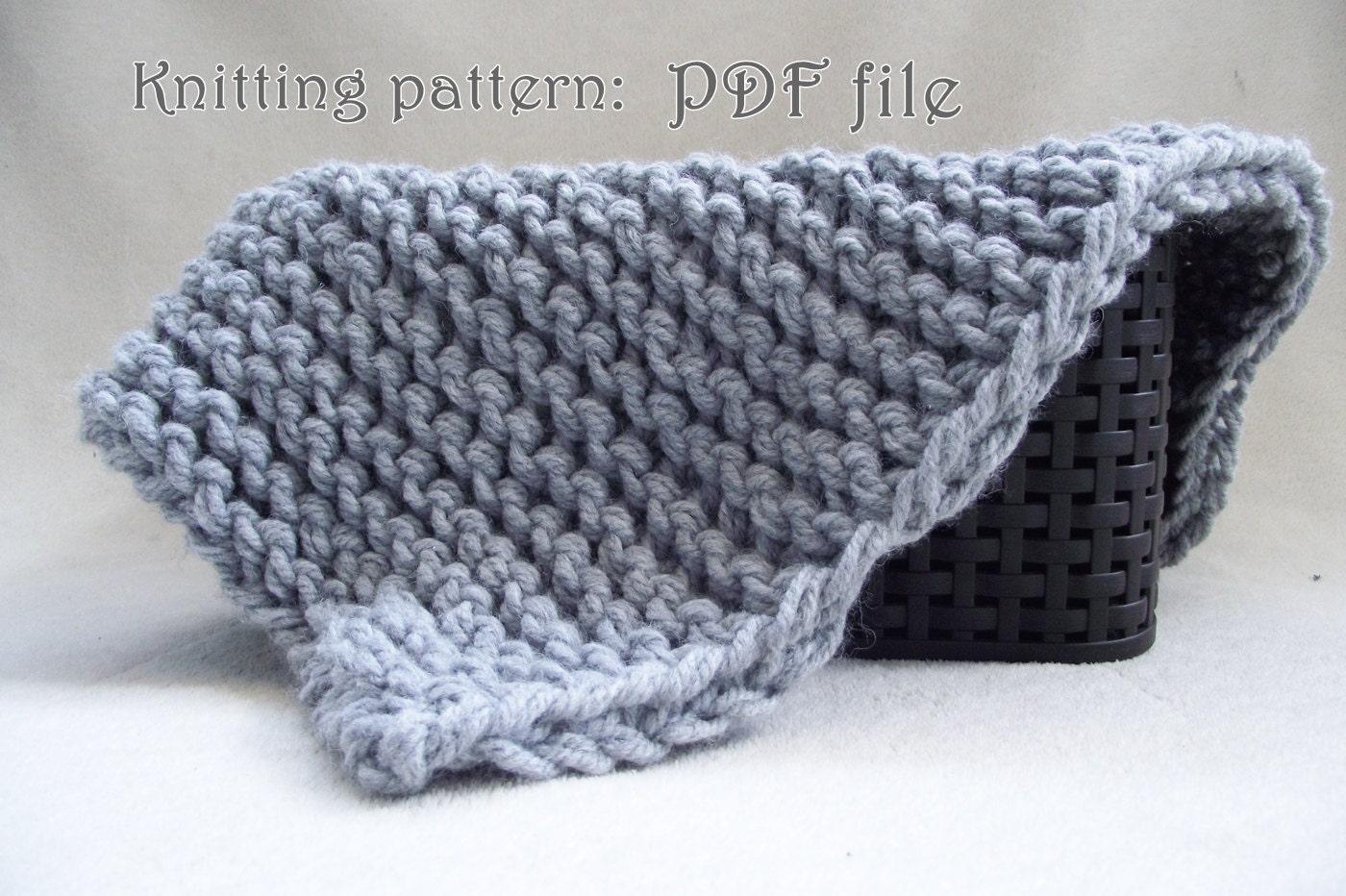 113 Beginner Knitting Pattern - mini blanket, Easy knit pattern PDF ...
