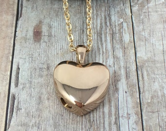Cremation Urn Pendant - Rose Gold Heart Necklace, Heart Pendant, Cremation Jewelry / free shipping