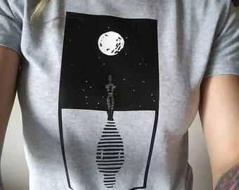 MOON SHADOW vinyl printed tee shirt