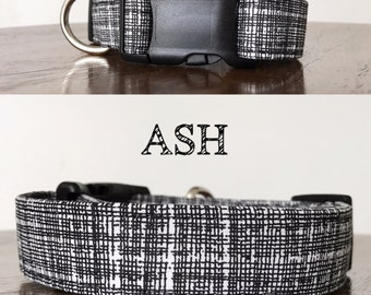 Ash - Black and White Abstract Handmade Collar