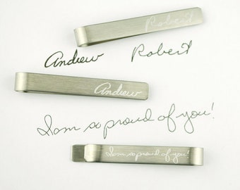 Fathers day gift from Son Personalized Tie Clip, Custom Tie Bar Engraved Tie Clip, Engraved Accessories, Groomsmen gift for him Gift for Dad