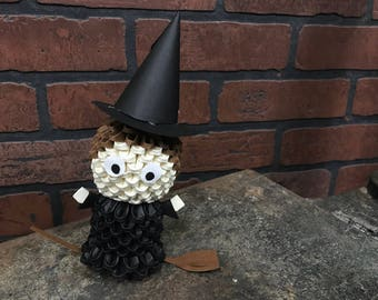 CLEARANCE - 3D Origami Witch - Ready To Ship