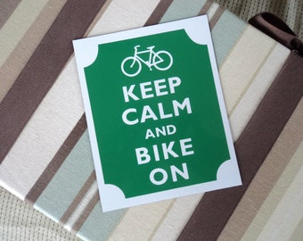 Keep calm bike on fridge magnet