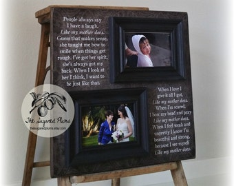 Mother Of The Bride Keepsake Gift, Mother Of The Bride Frame, Thank You Gift, Like My Mother Does, 16x16 The Sugared Plums Frames