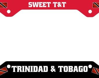 Sweet T&T Trinidad Tobago License Plate Frame Tag Holder