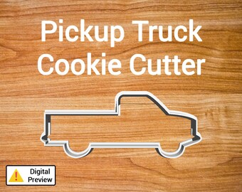 """4"""" Pickup Truck Cookie Cutter (Vehicle Set)"""