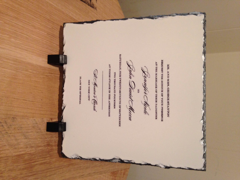 Personalized Wedding Invitation Keepsake Slate Plaque Your