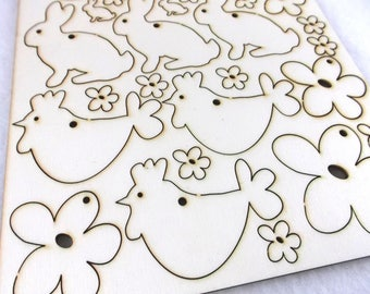 Easter Decor, Craft Kit, 34 pieces  (02-0002)