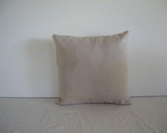 Natural Linen 12x12 Pillow Cover