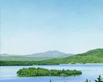 Art Print - Rangeley Lake in June