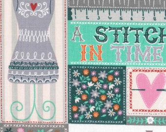 A Stitch in Time Cotton Fabric by the half yard and by the yard