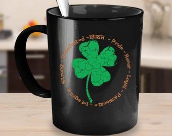St Patricks Tag-Becher - irischen Becher - Kleeblatt - St. Paddy