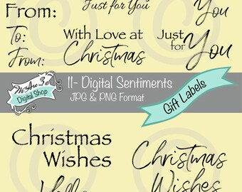 We Are 3 Digital Sentiments - Gift Labels, Tags,  Christmas, Greetings JPEG, PNG