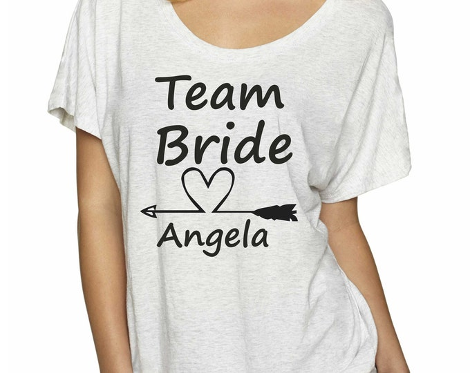 Bridesmaid custom shirts / Personalized bachelorette shirts / bridesmaid big tshirt / off shoulder bridal party tops / getting ready outfits