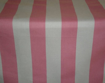 Pink and white canopy table runner