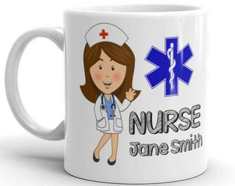 Personalised Nurse Gift Mug