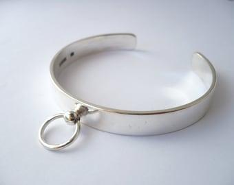 sterling silver slave ring o cuff bracelet