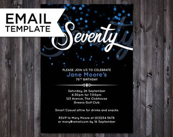 birthday invite email template
