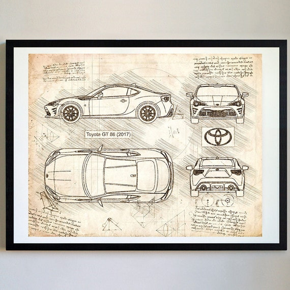 Toyota gt 86 2017 da vinci sketch gt86 art blueprint malvernweather Gallery