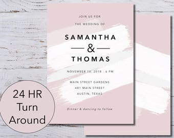 Wedding Invitation, Printable, Customizable