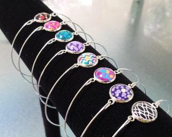 Stylish Charm Bangle Bracelet