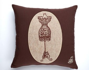 Embroidery pillow mini dummy made in Italy