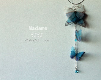 Butterfly butterfly Butterfly crochet 925 Silver Wire Earrings