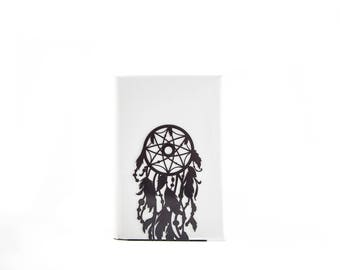 One Decorative bookend // Dream catcher // modern functional decor for dreamers // FREE SHIPPING // perfect housewarming gift