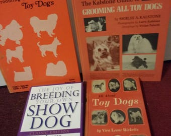 Grooming Toy Dogs Book Lot Toy Dog Breeds Dog Grooming Book Dog Grooming Books Vintage