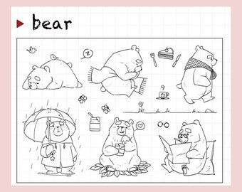 clear Stamp Set / Clear Stamps /Pooh bear Winnie  Disney Transparent Stamp