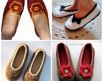 Crochet Pattern 074 -  Crochet Slipper Pattern for  Womens Slippers Amy Boots Pattern Teen Ladies Women Unisex Adult Shoes Boots Slippers