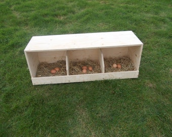 Chicken Nest Box / Chicken Coop / Hens / Birds / Poultry / Universal / Triple
