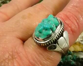 Native American Turquoise Man's Ring Henry Rosetta