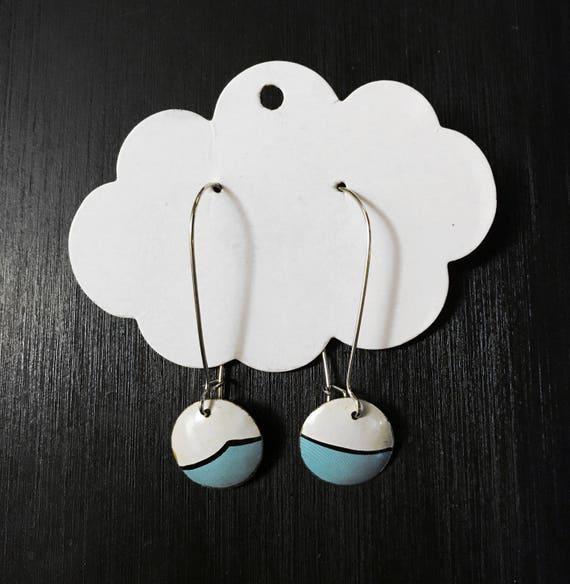 Earrings- Modern Color Block Circle Earrings