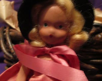 SALE/Zosa in salmon silk a storybook doll a miniature doll one of the seven sisters