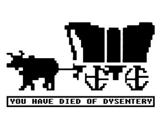 Oregon Trail Game Vinyl Decal Sticker