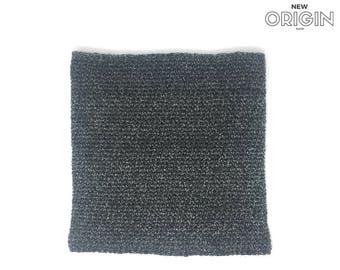 Warm Grey Crochet Cowl - M