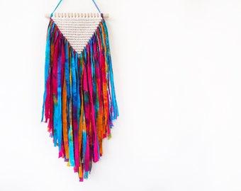 Tie Dye Cotton Yarn Macrame Wall Hanging