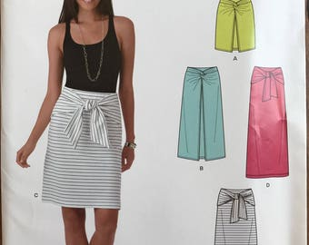 UNCUT Misses' Skirt Sewing Pattern New Look 6348 Size 10-12-14-16-18-20-22 Maxi Skirt, Wrap Skirt, Skirt with Tie, Knit Skirt