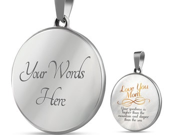 Love You Mom - Pendant Necklace