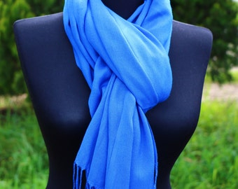 Royal Blue Scarf Women Scarf Shawl Cobalt Blue Scarf Gift For Her Gift İdeas BUY 3 GET 1