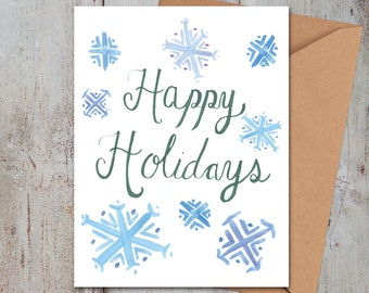 Happy Holidays Snowflake Card