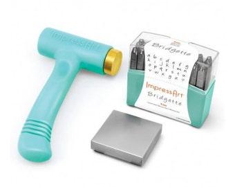 Metal Stamping Kit Bridgette 4mm Stamps Impressart Lowercase Letter Stamps Metal Stamps Alphabet Letters + Bonus Stamps-0 Shipping USA-